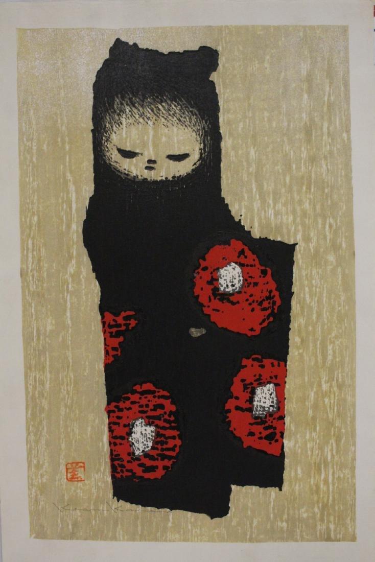 Japanese woodblock print by Kaoru Kawano