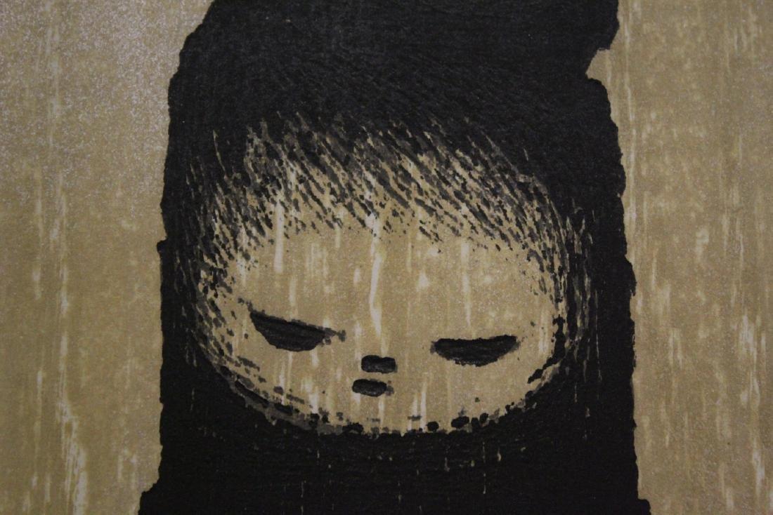 Japanese woodblock print by Kaoru Kawano - 5