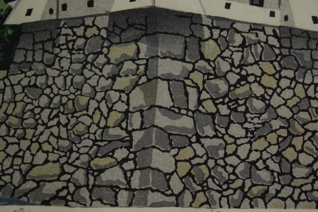 A framed Japanese woodblock print - 10