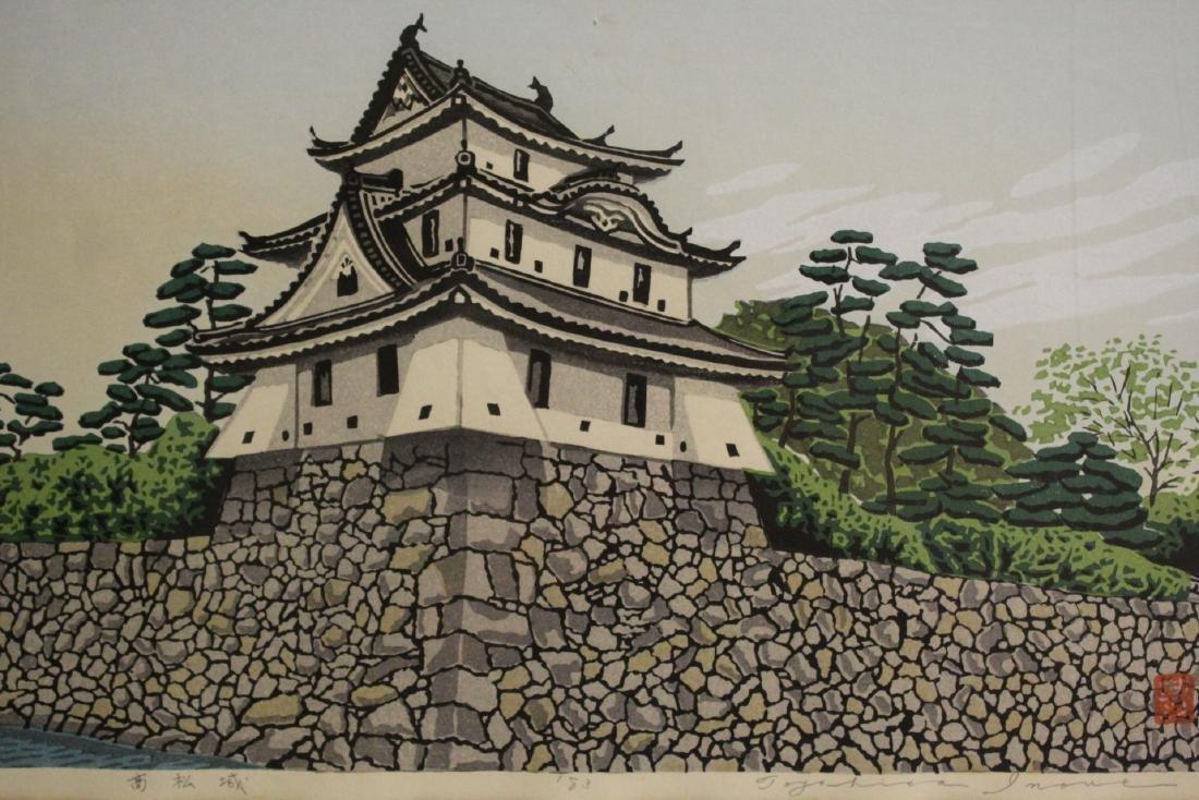 A framed Japanese woodblock print - 2