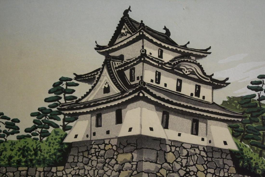 A framed Japanese woodblock print - 3