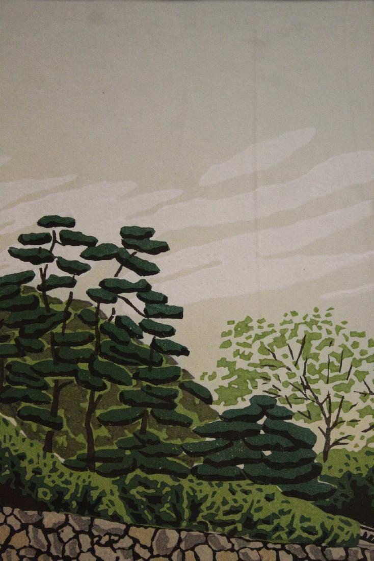 A framed Japanese woodblock print - 4