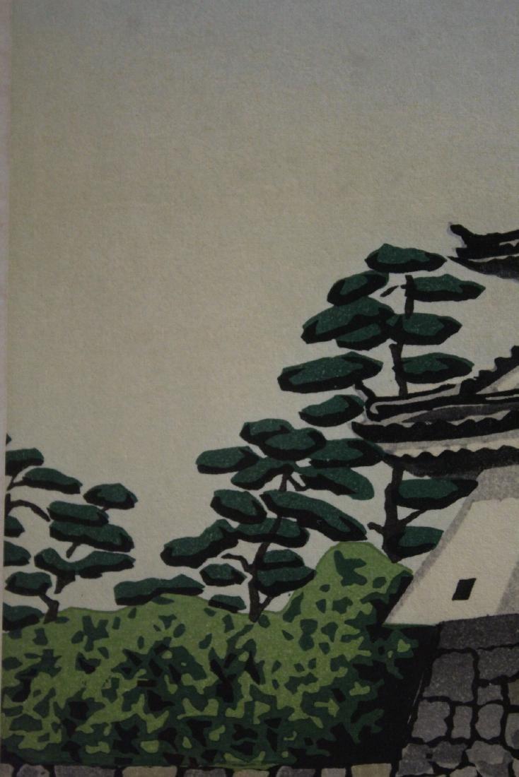 A framed Japanese woodblock print - 5