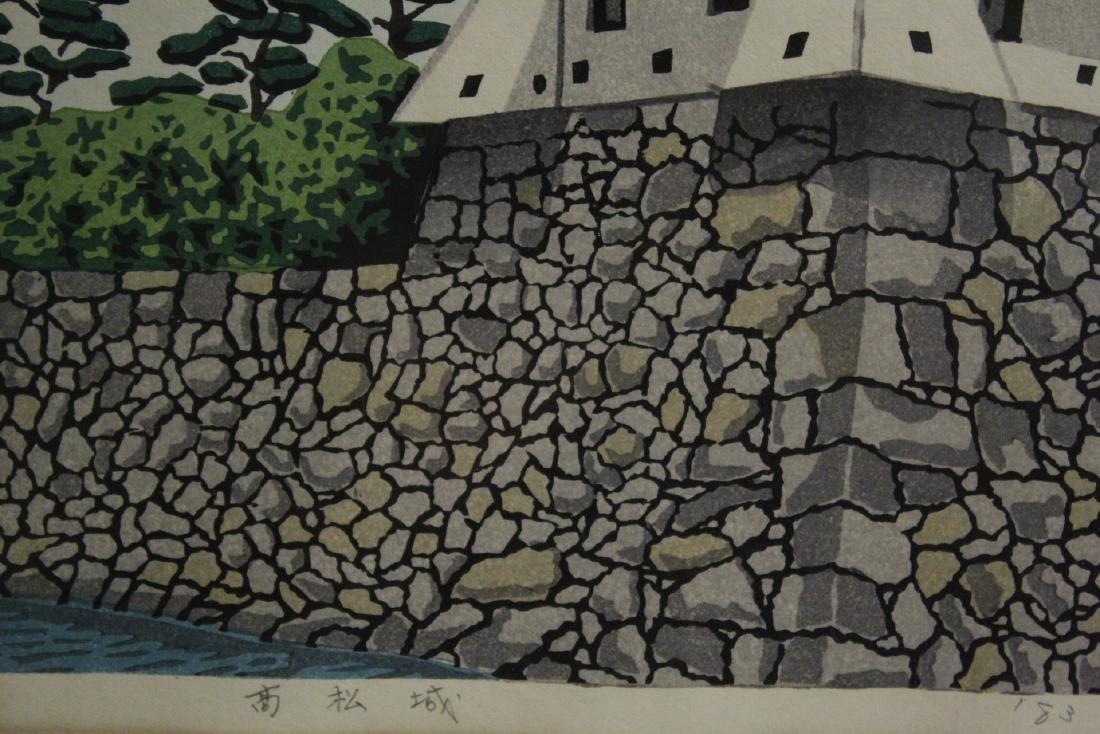 A framed Japanese woodblock print - 6