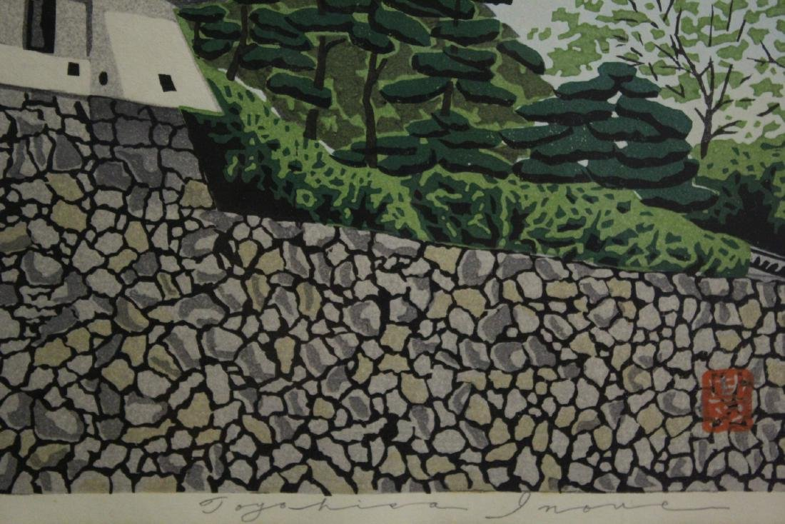 A framed Japanese woodblock print - 7