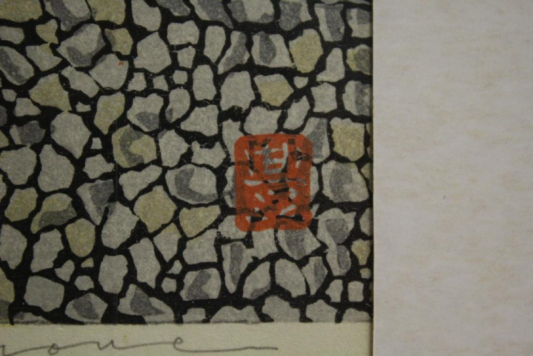 A framed Japanese woodblock print - 8
