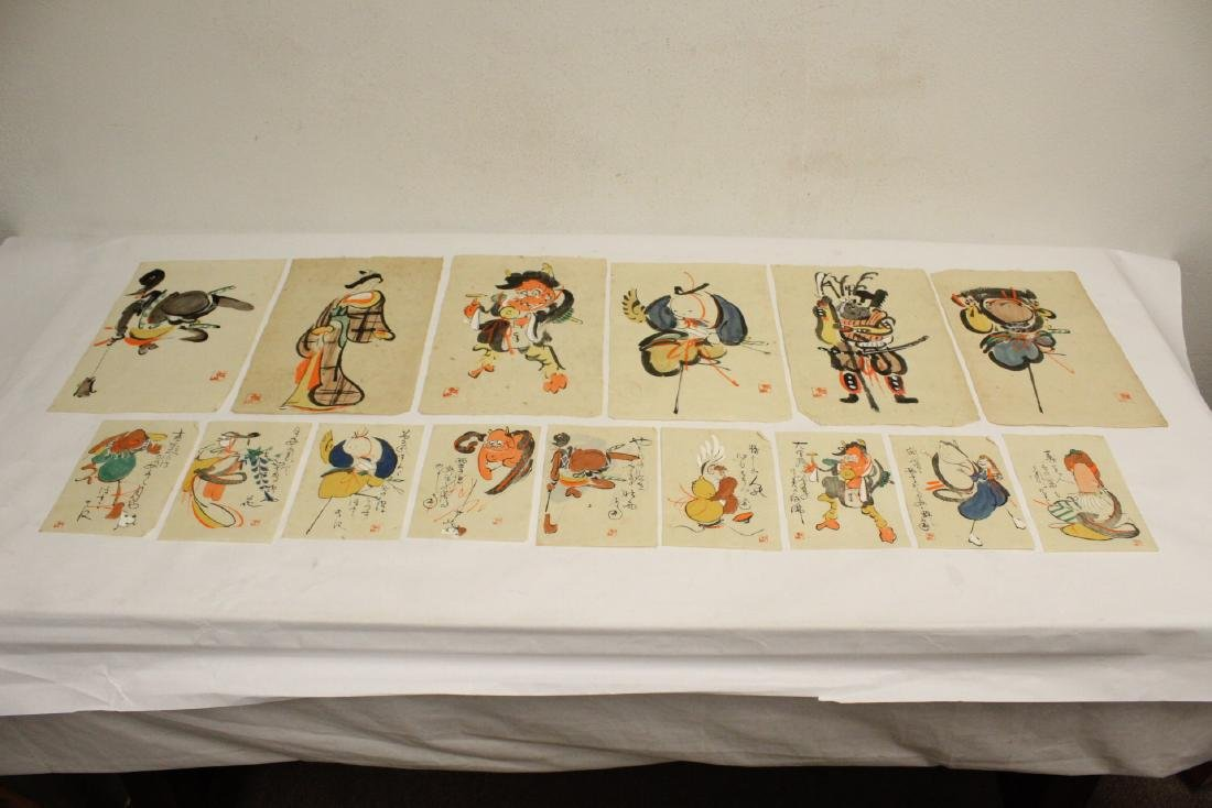Collection of 15 Japanese woodblock prints