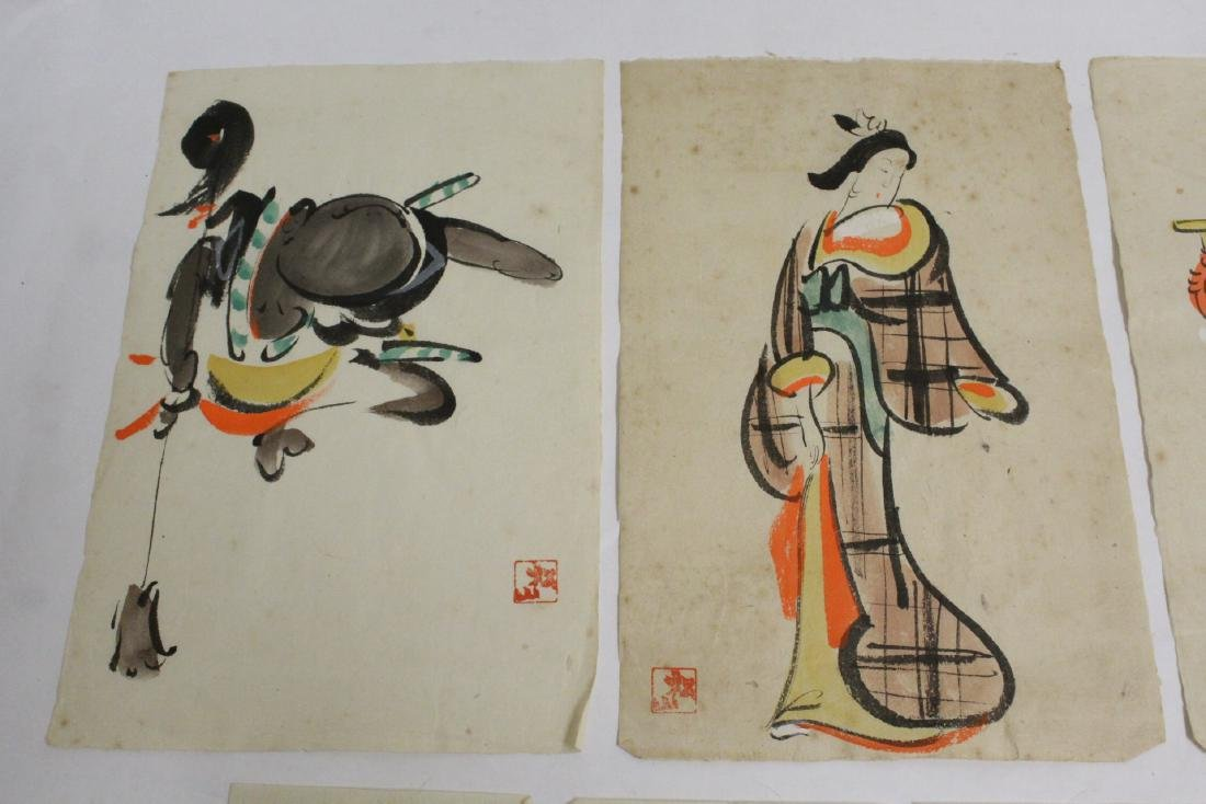 Collection of 15 Japanese woodblock prints - 2