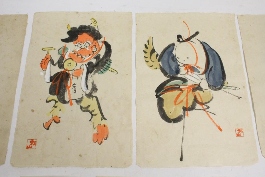 Collection of 15 Japanese woodblock prints - 3