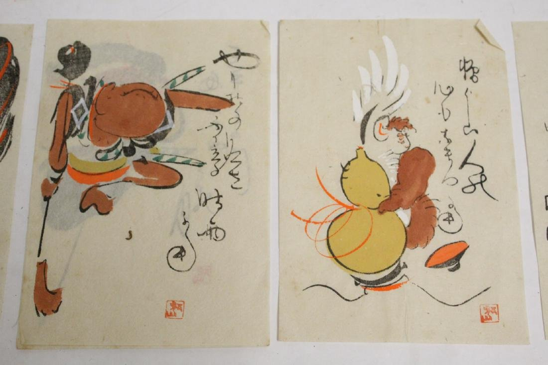Collection of 15 Japanese woodblock prints - 7