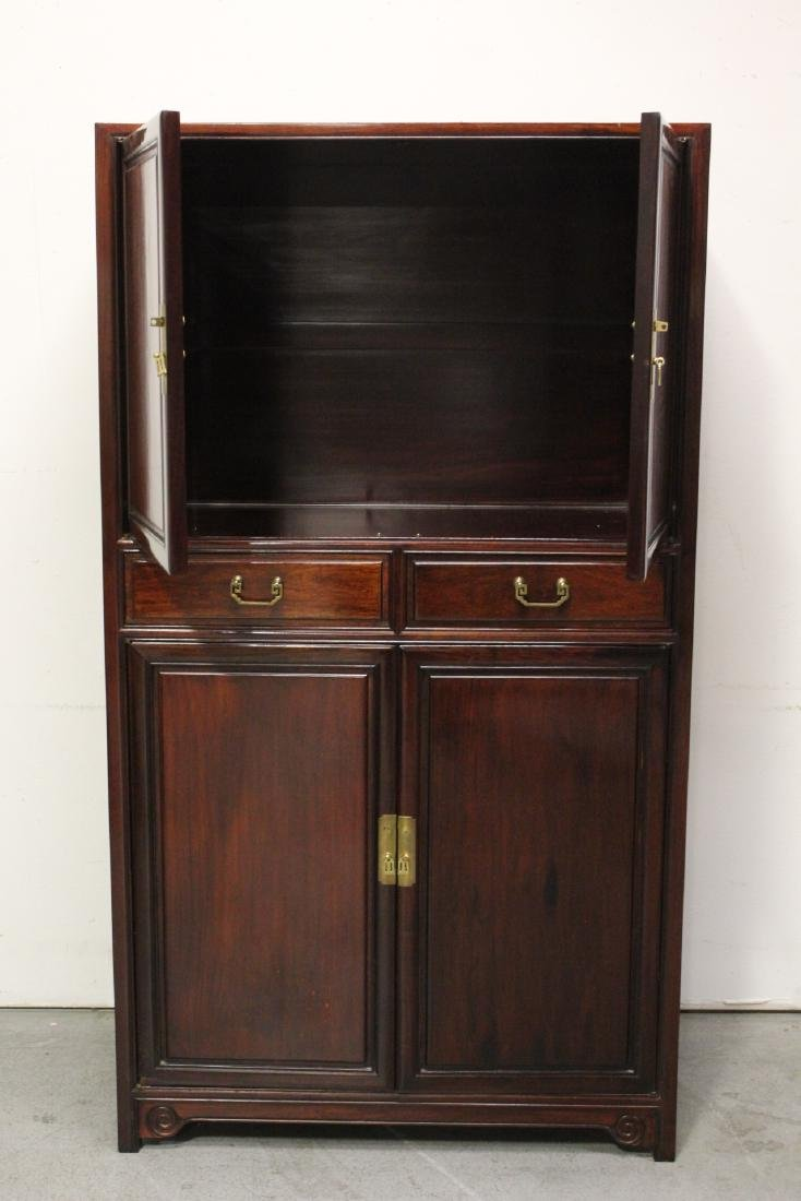 Chinese rosewood cabinet - 3