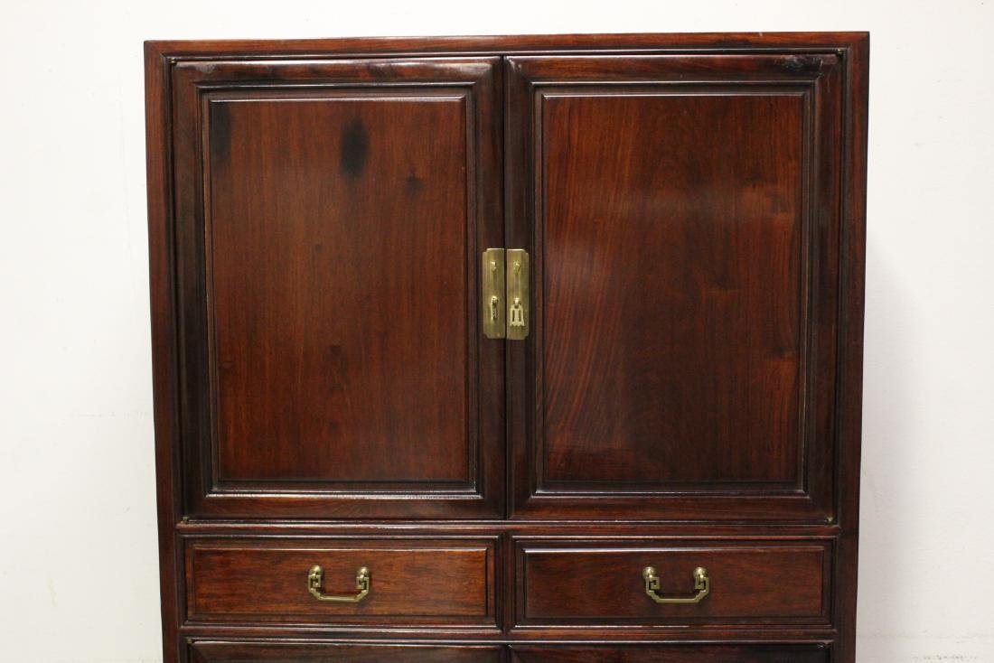 Chinese rosewood cabinet - 5