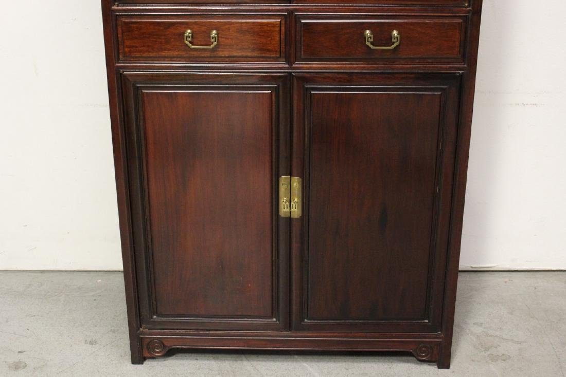 Chinese rosewood cabinet - 6