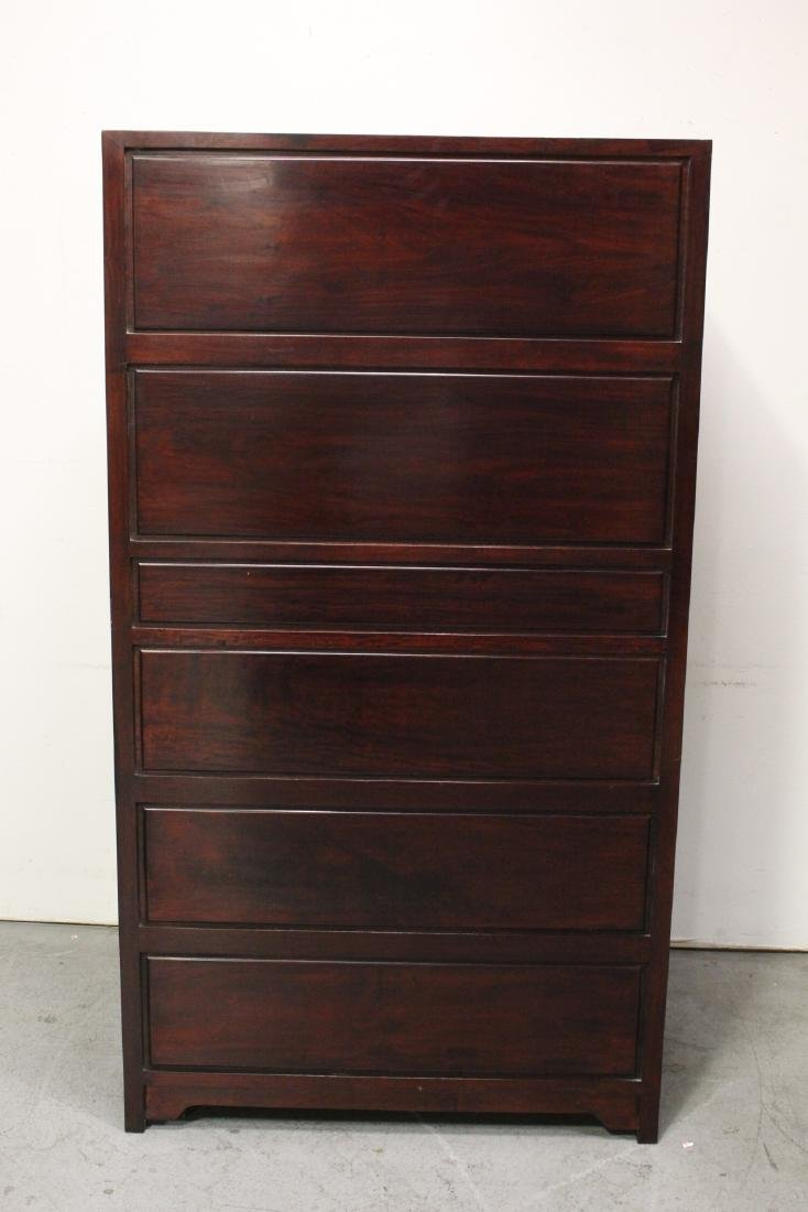 Chinese rosewood cabinet - 8