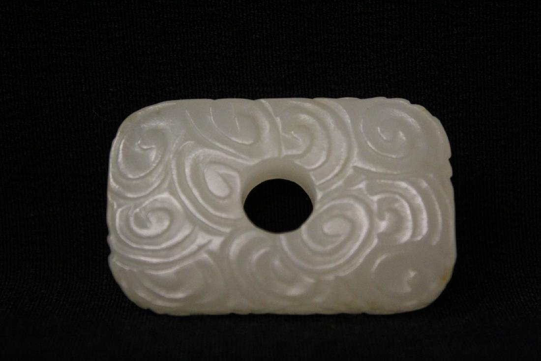 3 Chinese white jade carved ornaments - 10
