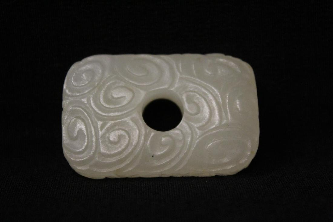 3 Chinese white jade carved ornaments - 8