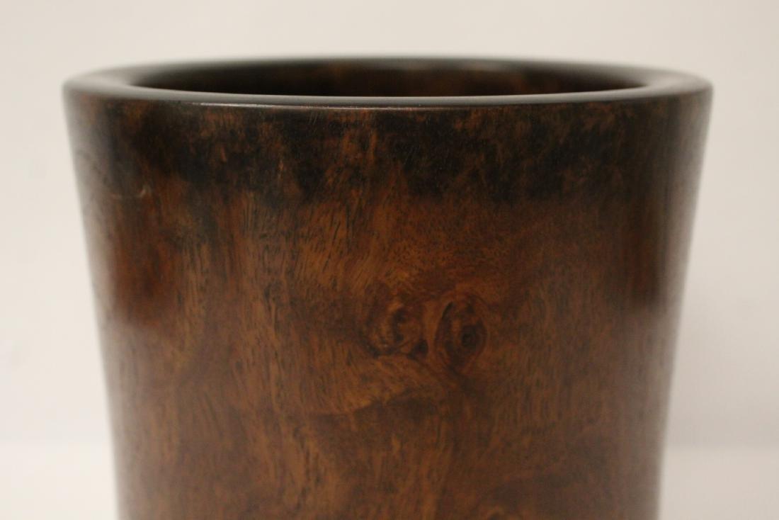 Large Chinese rosewood brush holder - 4