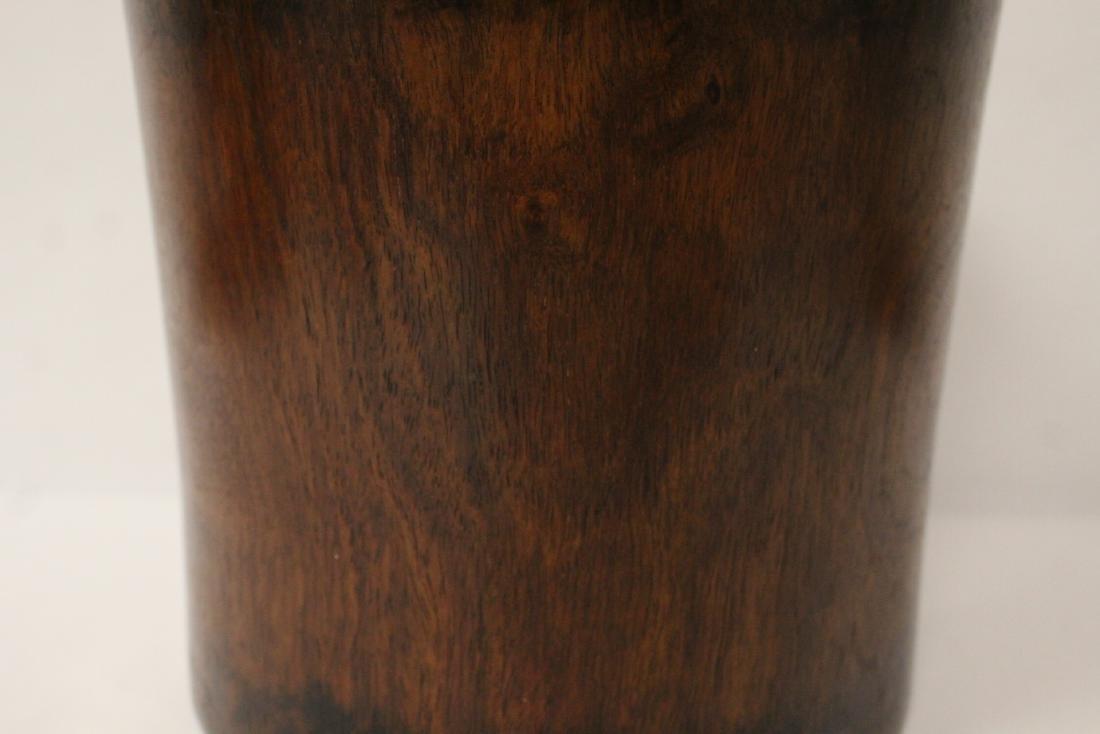 Large Chinese rosewood brush holder - 6