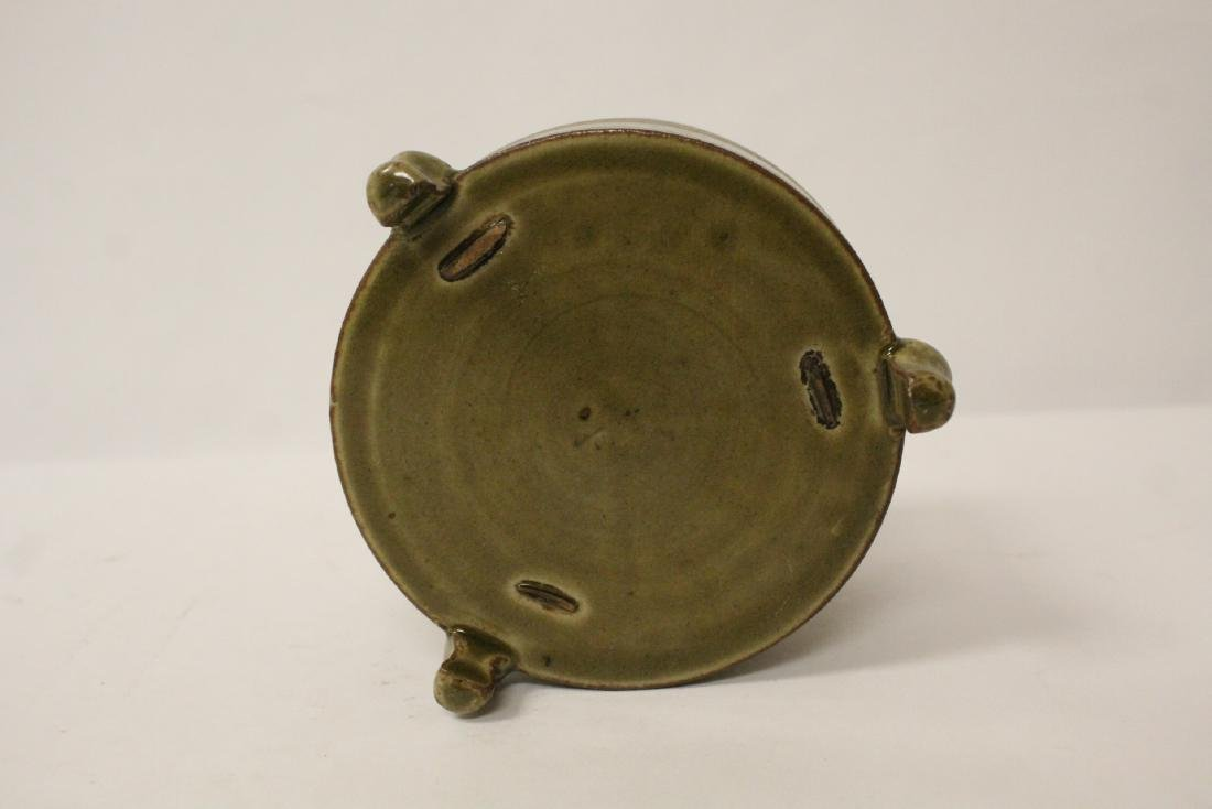 Chinese Song style tripod censer - 8