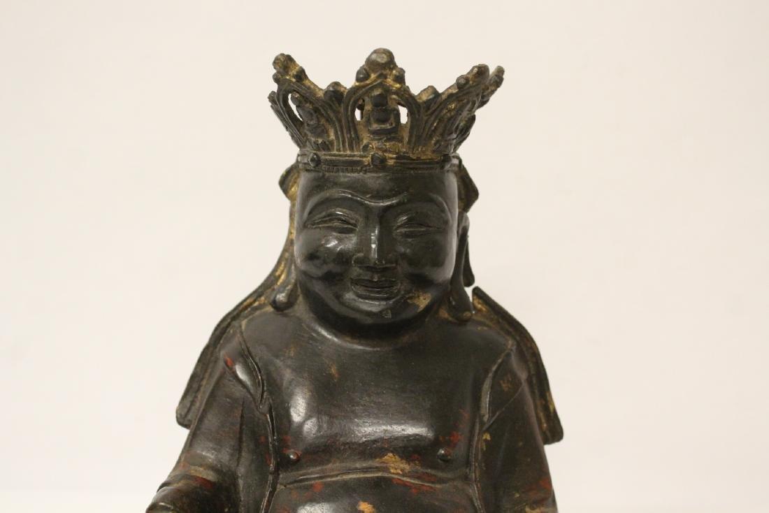 Chinese gilt bronze sculpture - 4