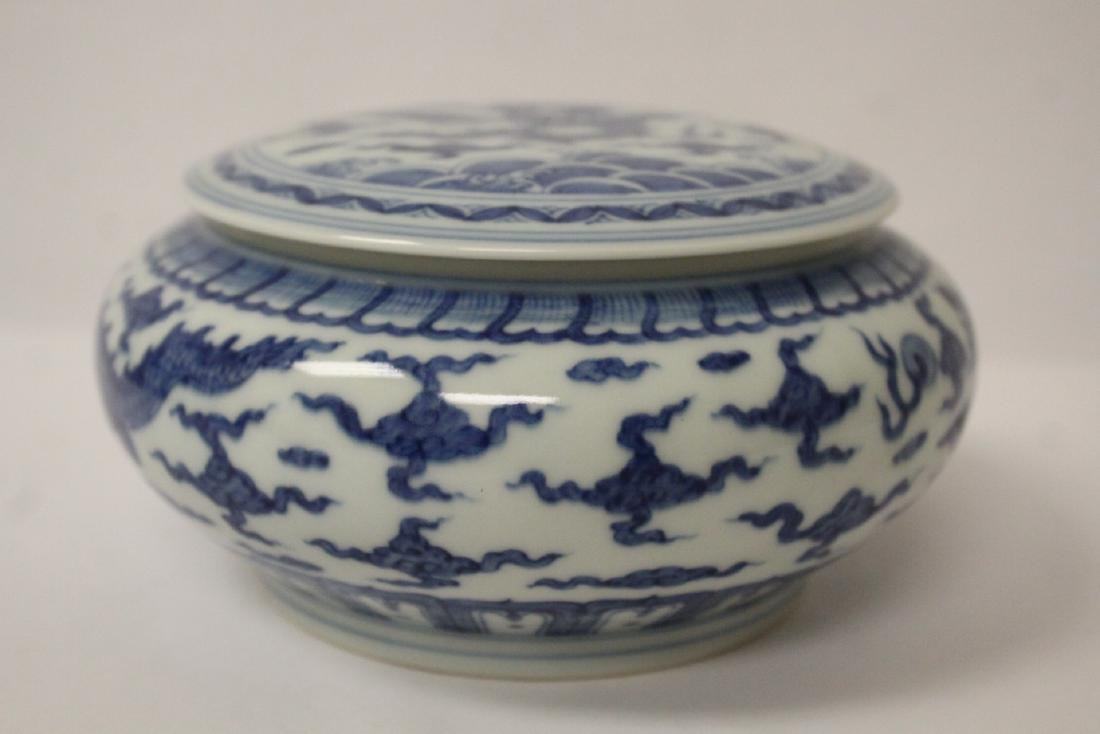 Chinese blue and white porcelain box - 10