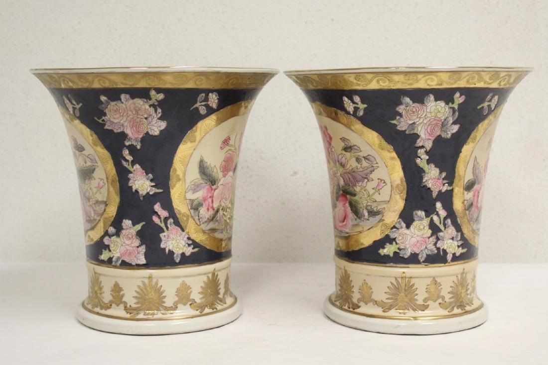 Pair beautiful trumpet jars - 4