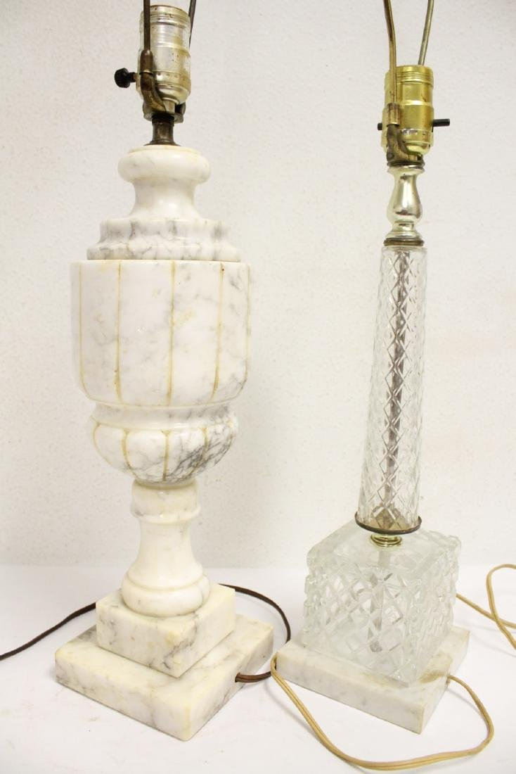 An alabaster lamp and a crystal lamp - 10