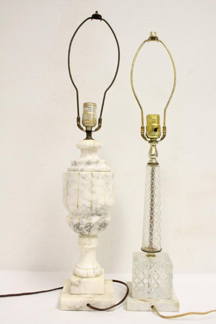 An alabaster lamp and a crystal lamp - 3