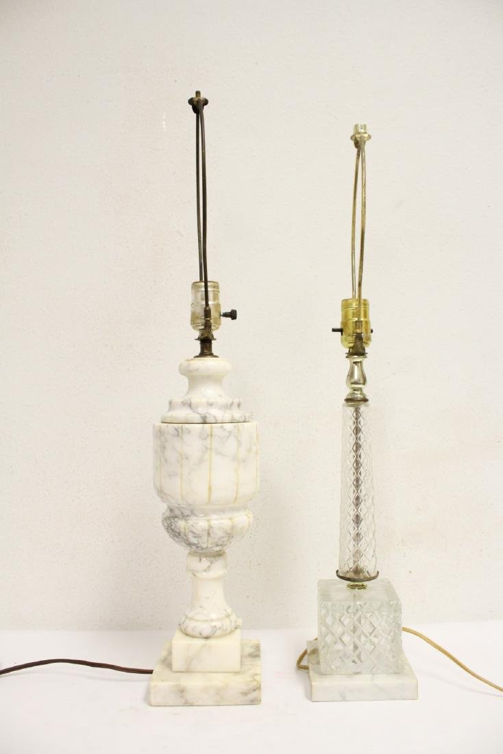 An alabaster lamp and a crystal lamp - 4