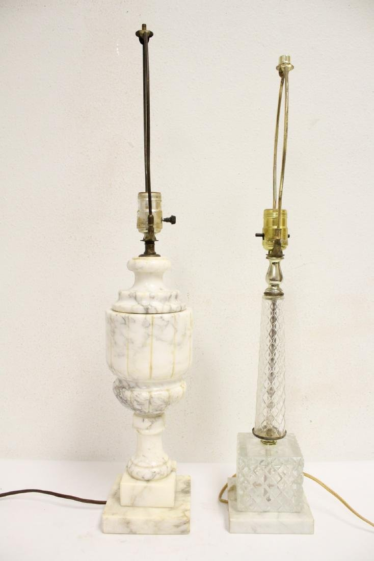An alabaster lamp and a crystal lamp - 5