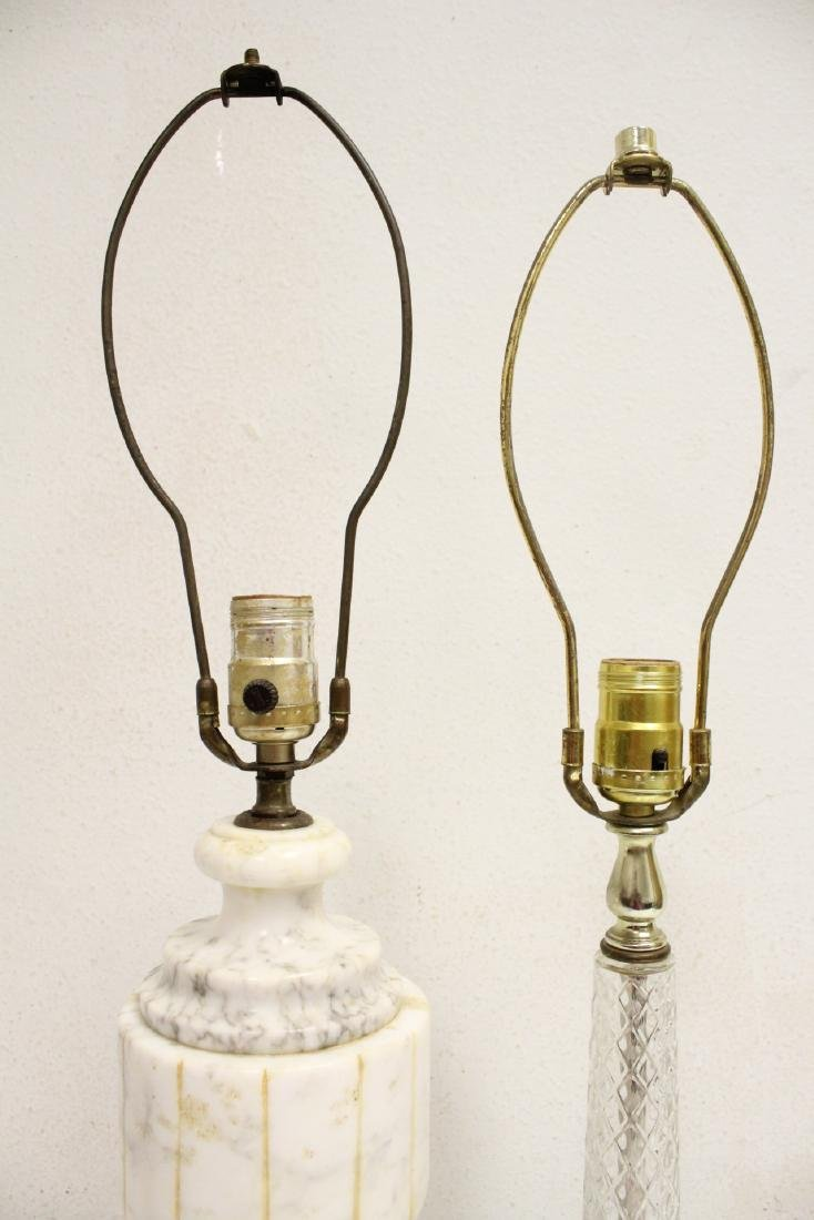 An alabaster lamp and a crystal lamp - 6