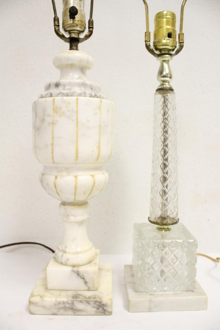 An alabaster lamp and a crystal lamp - 7