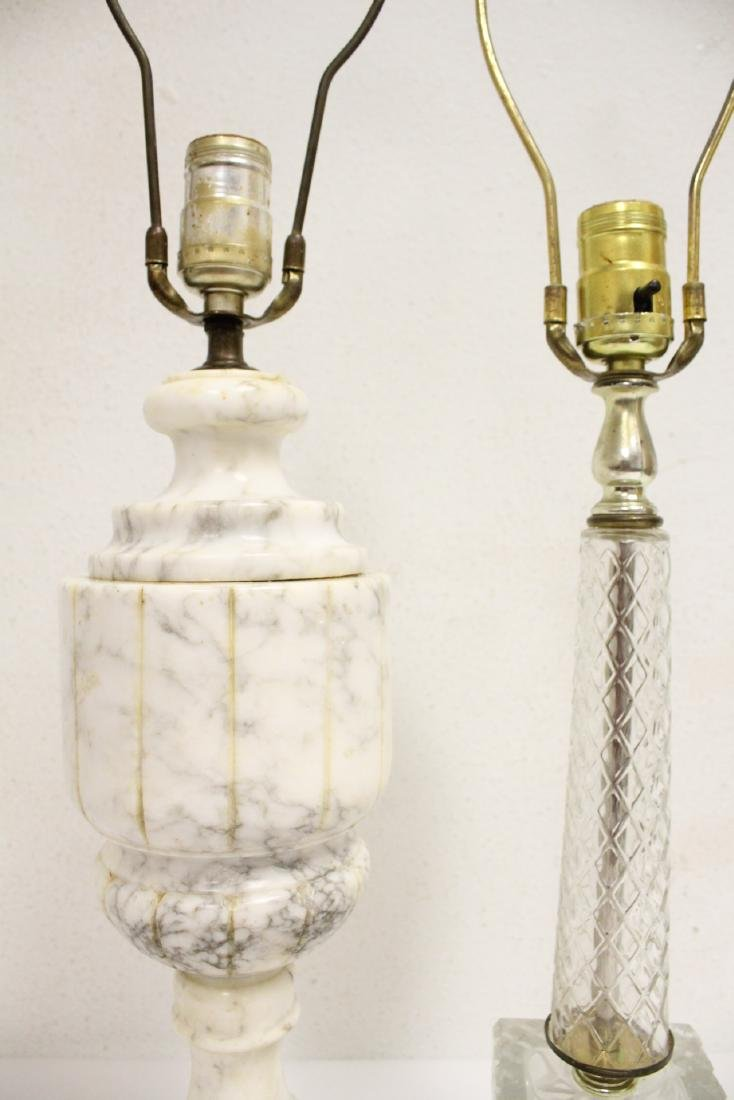 An alabaster lamp and a crystal lamp - 8