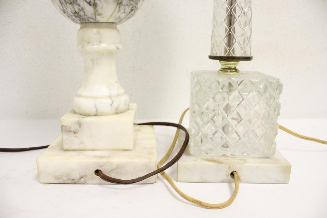 An alabaster lamp and a crystal lamp - 9