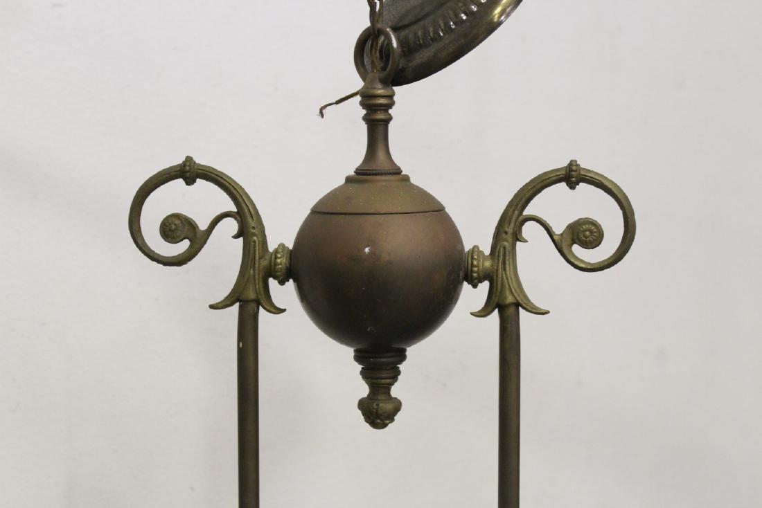 Vintage Victorian double gas light with cherub - 6
