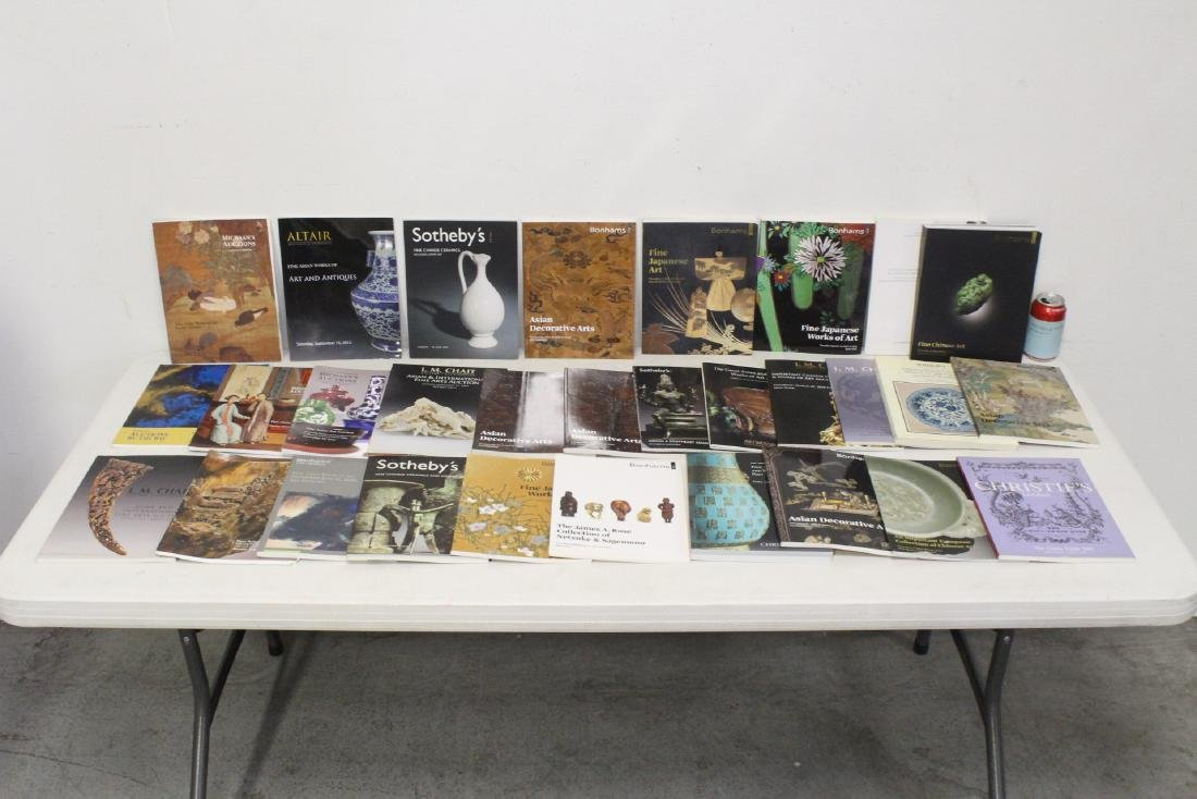 Approx. 28 vol. Chinese antique auction catalogs