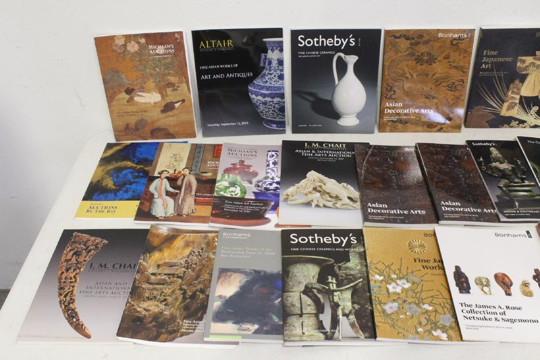 Approx. 28 vol. Chinese antique auction catalogs - 2