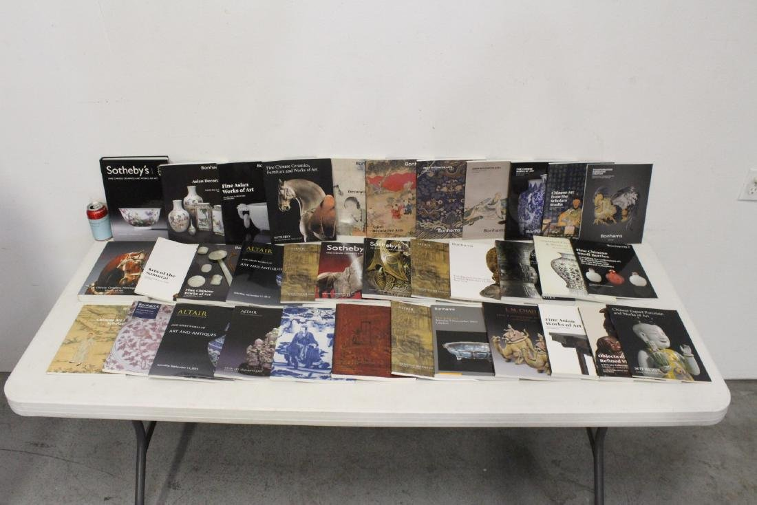 Approx. 38 vol. Chinese antique auction catalogs