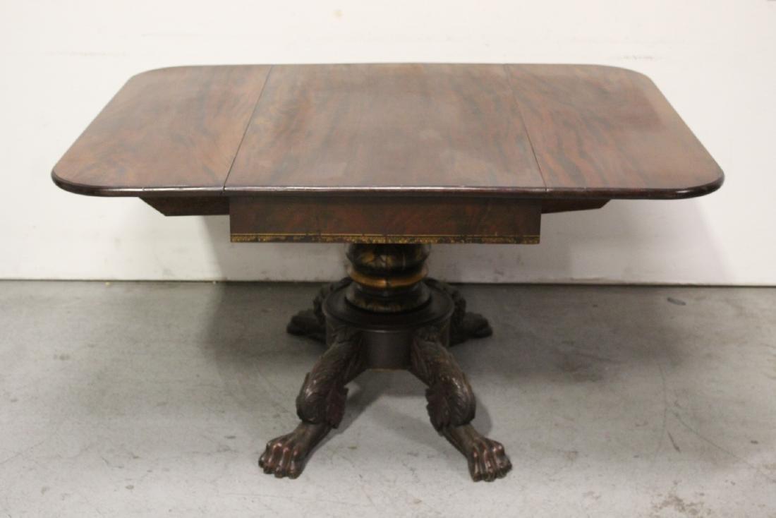Victorian mahogany dining table - 3
