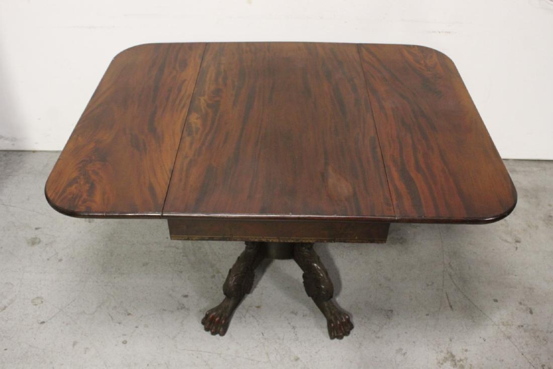 Victorian mahogany dining table - 4