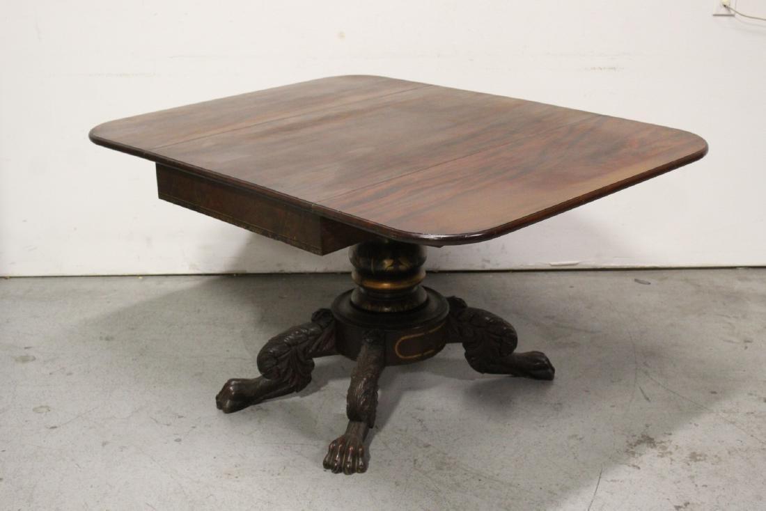 Victorian mahogany dining table - 5