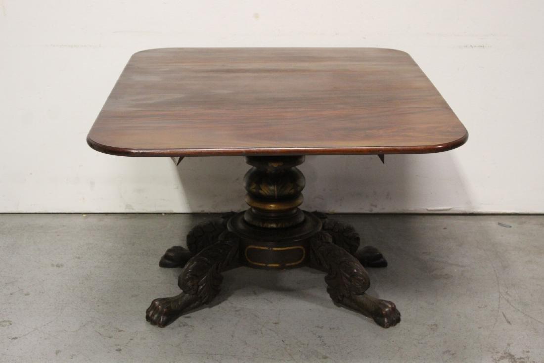 Victorian mahogany dining table - 6