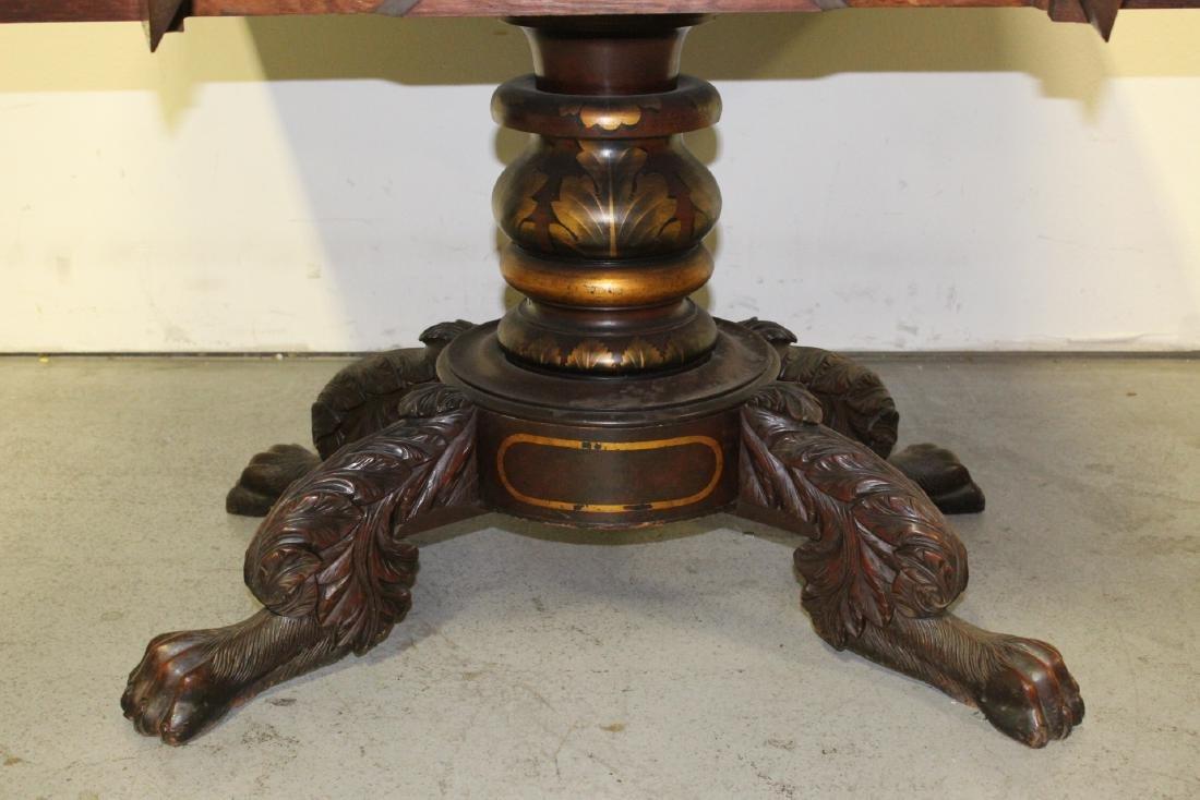Victorian mahogany dining table - 8