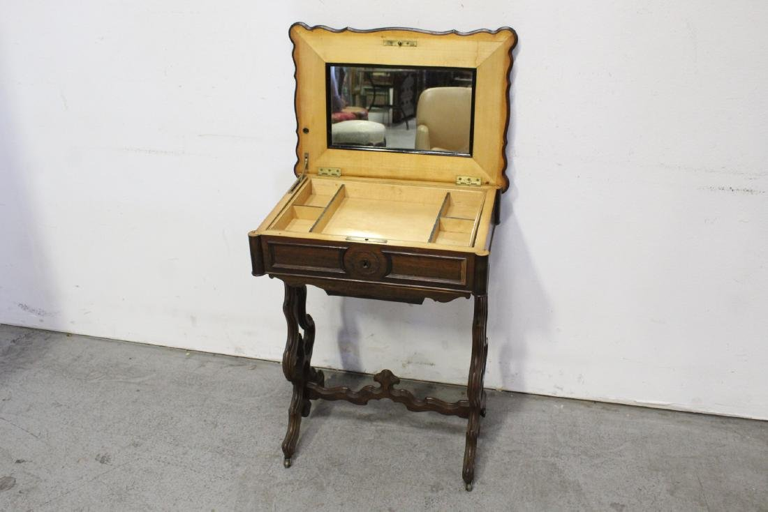 A Beautiful Victorian walnut sewing stand