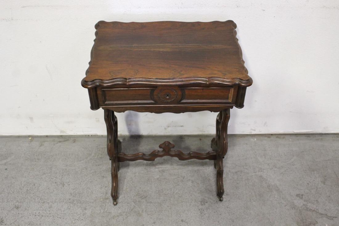 A Beautiful Victorian walnut sewing stand - 2