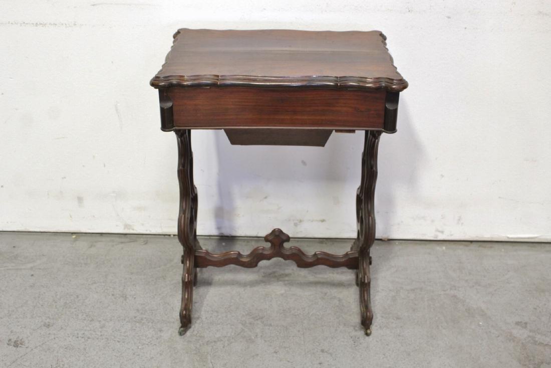 A Beautiful Victorian walnut sewing stand - 6