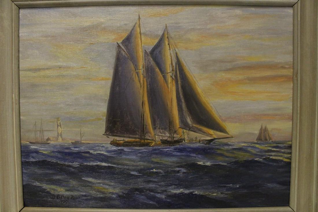 "O/b ""seascape with sail"" - 2"