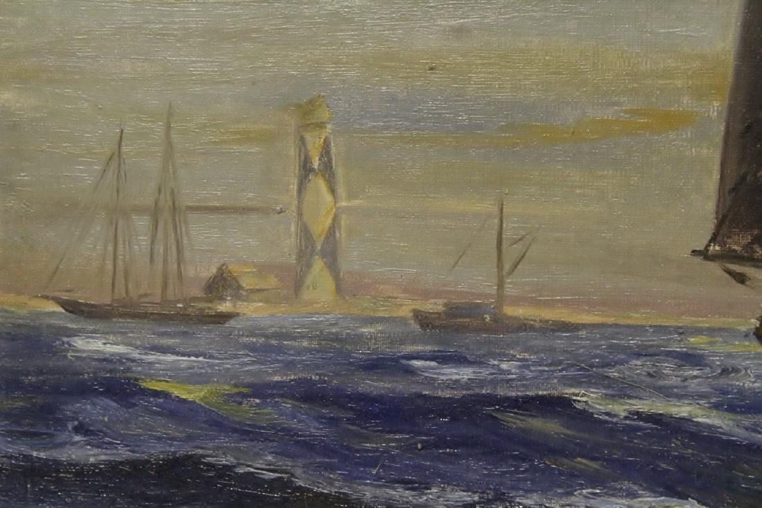 "O/b ""seascape with sail"" - 4"