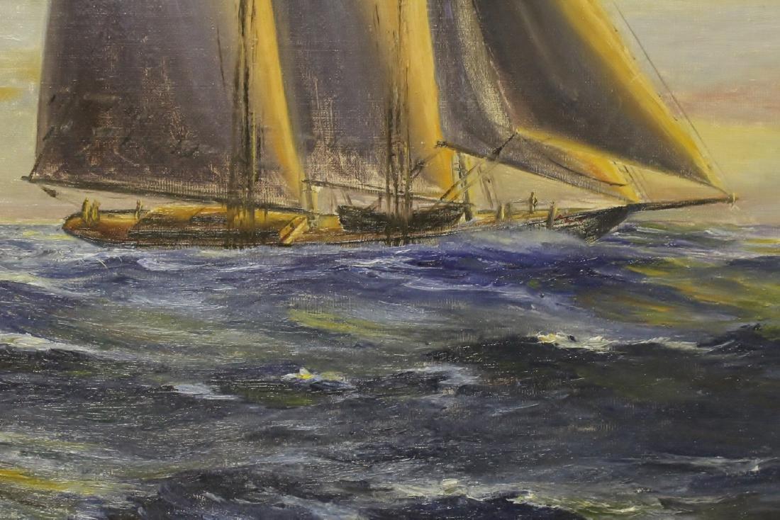 "O/b ""seascape with sail"" - 7"