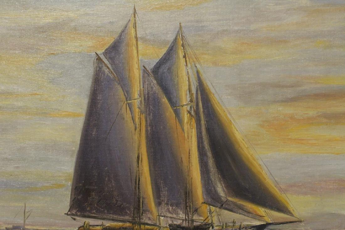 "O/b ""seascape with sail"" - 8"